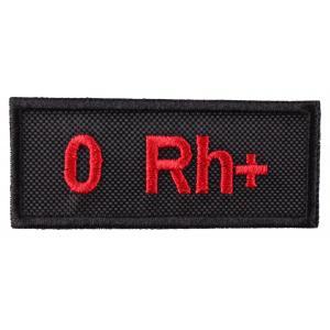 Nášivka s krvnou skupinou 0 Rh +
