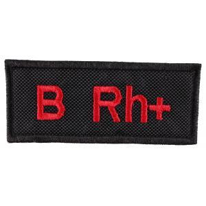 Nášivka s krvnou skupinou B Rh +