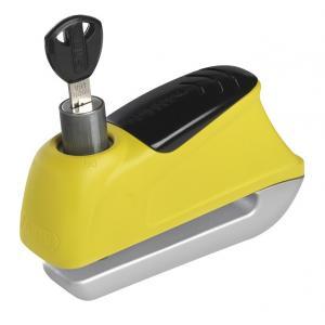 Zámok na kotúčovú brzdu s alarmom Abus 350 Trigger žltý