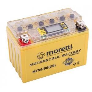 Bezúdržbová gélová batéria Moretti MTX9-BS, 12V 8Ah s meračom napätia