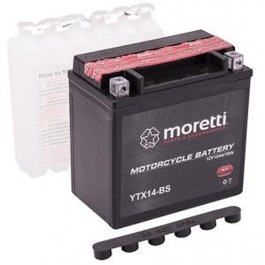 Bezúdržbová motocyklová batérie Moretti MTX14-BS, 12V 12Ah výpredaj