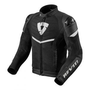 Bunda na motorku Revit Mantis čierno-biela výpredaj