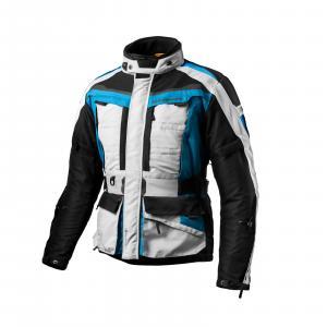 Bunda na motorku Shima Horizon modro-šedo-čierna výpredaj