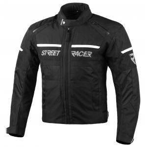 Bunda na motorku Street Racer Definit čierno-biela
