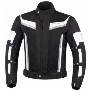 Bunda na motorku Street Racer Elite čierno-biela