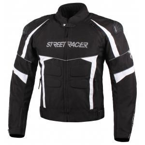 Bunda na motorku Street Racer Spark čierno-biela