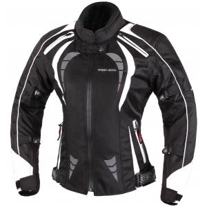 Dámska bunda na moto RSA Queen čierno-biela