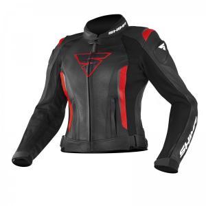 Dámska bunda na motorku Shima Miura čierno-červená výpredaj