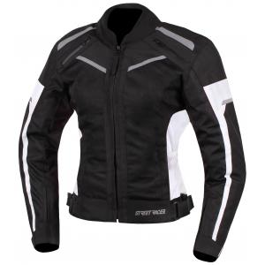 Dámska bunda na motorku Street Racer Betty čierno-biela