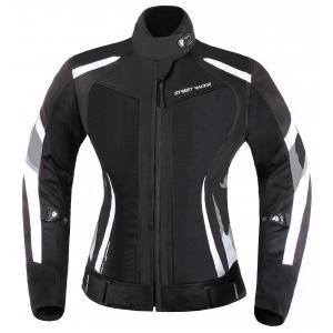 Dámska bunda na motorku Street Racer Elite čierno-biela