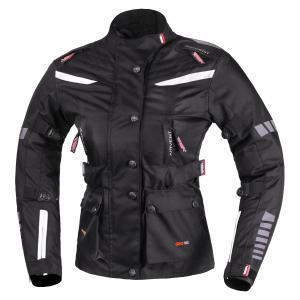 Dámska trojvrstvová bunda na motorku RSA Gun čierno-biela