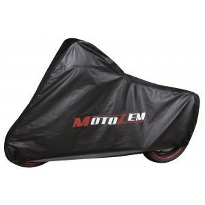 Garážová plachta na motorku Motozem - čierna