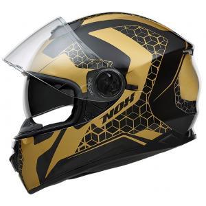 Integrálna prilba na motorku NOX N301 Steel čierno-zlatá