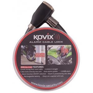 Káblový zámok s alarmom KOVIX KWL24-110