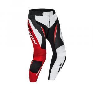 Nohavice na motorku IXON Falcon bielo-červeno-čierne
