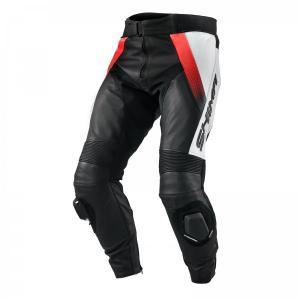 Nohavice na motorku Shima STR čierno-bielo-fluo červené výpredaj
