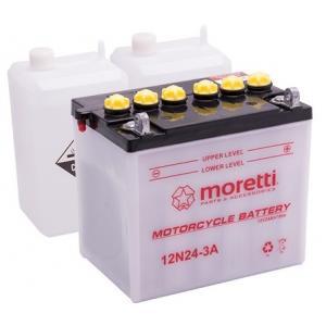 Konvenčná motocyklová batérie Moretti 12N24-3A, 12V 24Ah výpredaj
