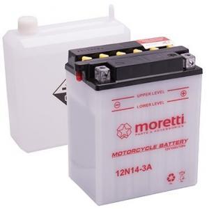 Konvenčné motocyklová batérie Moretti 12N5,5-4A, 12V 5,5Ah