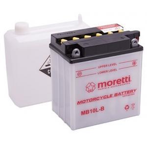 Konvenčné motocyklová batérie Moretti MB10L-B, 12V 11Ah