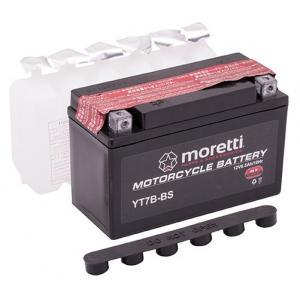 Konvenčné motocyklová batérie Moretti MT7B-BS, 12V 6,5Ah
