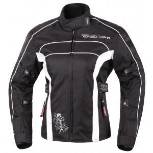 Moto bunda dámska RSA SW-01 čierno-biela