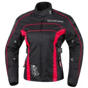 Moto bunda dámska RSA SW-01 čierno-červená