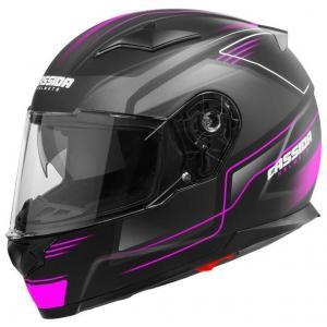 Prilba na motocykel Cassida Apex Fusion čierno-ružovo-biela