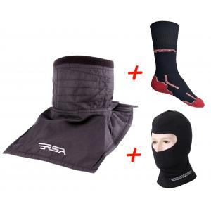 SET: Nákrčník RSA Soul + Termo kukla RSA Heat + Funkčné ponožky RSA Classic