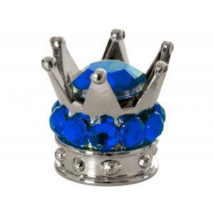 Čiapočky na ventilky Oxford Crown strieborno-modré
