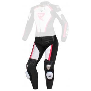 Dámske nohavice Street Racer Kiara čierno-bielo-fluo ružové