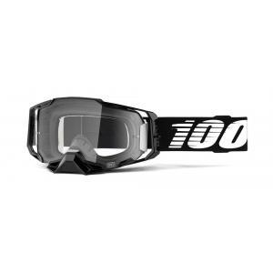 Motokrosové okuliare 100% ARMEGA čierne (číre plexi)