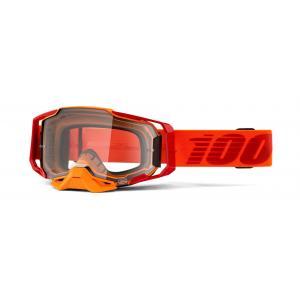 Motokrosové okuliare 100% ARMEGA Litkit oranžovej (číre plexi)