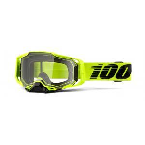 Motokrosové okuliare 100% ARMEGA Nuclear Citrus žltej (číre plexi) výpredaj
