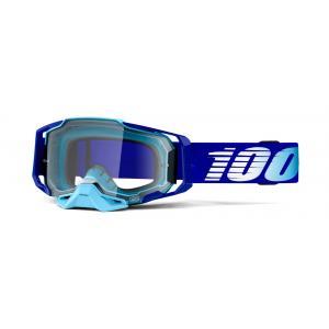 Motokrosové okuliare 100% ARMEGA Royal modrej (číre plexi)