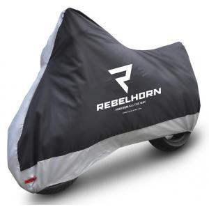 Plachta na motocykel Rebelhorn Cover II čierno-strieborná