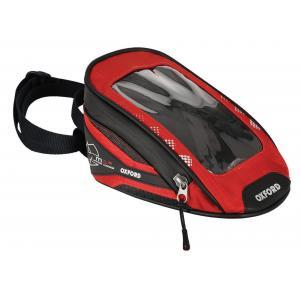 Tankbag na motocykel Oxford M1R Micro čierno-červený