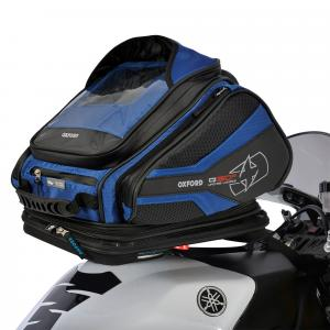 Tankbag na motocykel Oxford Q30R QR čierno-modrý