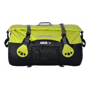 Vodotesný vak Oxford Aqua70 Roll Bag čierno-fluo žltý