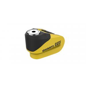 Zámok kotúčové brzdy Oxford Quartz Alarm XA10 žlto-čierny