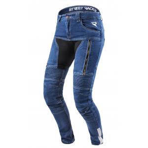 Dámské jeansy na motorku Street Racer Stretch modré výpredaj