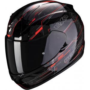 Integrálna prilba Scorpion EXO-390 Beat čierno-fluo červená