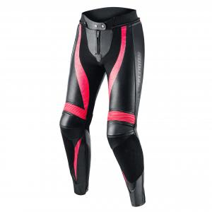 Dámske nohavice na motocykel Rebelhorn Rebel čierno-ružové