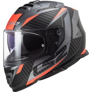 Integrálna prilba na motocykel LS2 FF800 Storm Racer titánovo-fluo oranžová