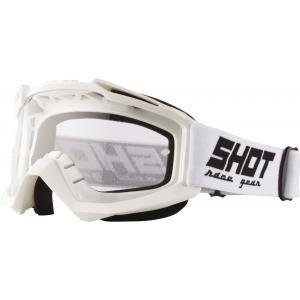 Motokrosové okuliare Shot Assault Solid biele