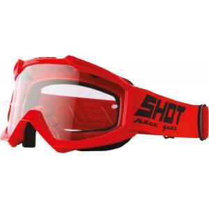 Motokrosové okuliare Shot Assault Solid červené