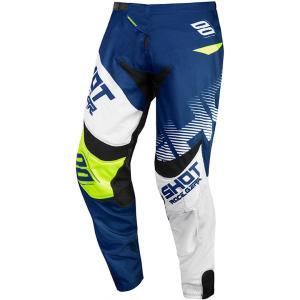 Motokrosové nohavice Shot Contact Trust modro-bielo-fluo žlté výpredaj
