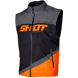 Softshellová vesta Shot Lite čierno-šedo-fluo oranžová výpredaj