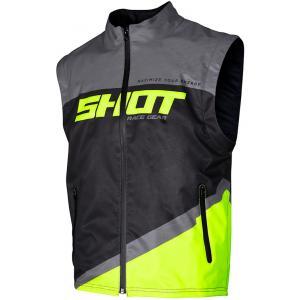 Softshellová vesta Shot Lite čierno-šedo-fluo žltá