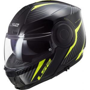 Vyklápacia prilba na motocykel LS2 FF902 Scope Skid čierno-fluo žltá
