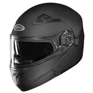Vyklápacia prilba na motocykel Ozone Wind čierna matná